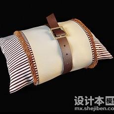 创意时尚靠枕抱枕3d模型下载