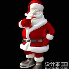 圣诞老人3d模型下载