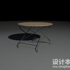 铁艺桌椅3d模型下载