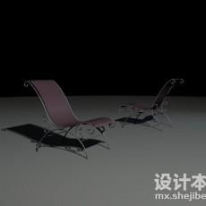 办公室躺椅3d模型下载