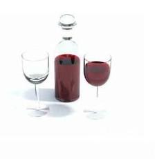 葡萄酒杯3d模型下载