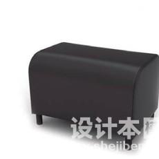 沙发凳3d模型下载