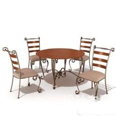 太阳伞户外桌椅3d模型下载