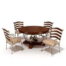 花园桌椅3d模型下载