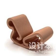 摇椅3d模型下载