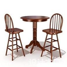 吧桌吧椅3d模型下载