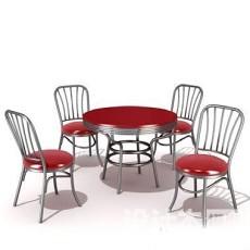 室外庭院休闲桌3d模型下载