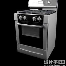 电烤箱3d模型下载