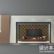 电视背景墙3d模型下载