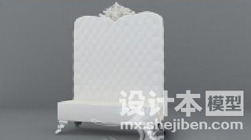 欧式无手扶沙发3d模型下载