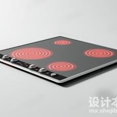 电磁炉3d模型下载