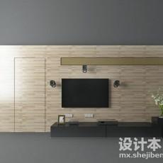 隐形门电视墙3d模型下载