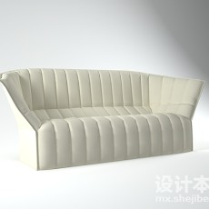 卡座沙发3d模型下载