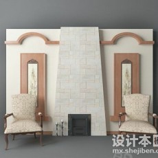 背景墙3d模型下载
