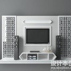 电视柜设计3d模型下载