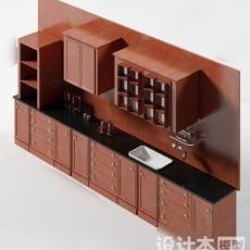 橱柜3d模型下载