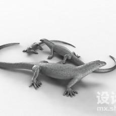 壁虎3d模型下载