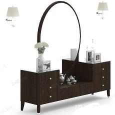梳妆柜3d模型下载