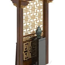 玄关厅柜3d模型下载