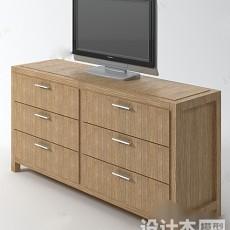 电视柜923d模型下载