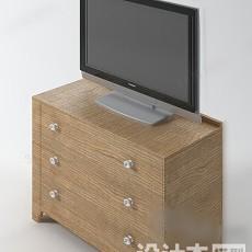 电视柜913d模型下载