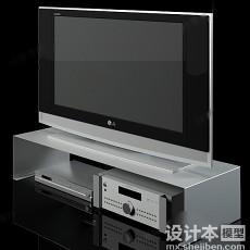 电视柜883d模型下载