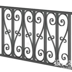 护栏3d模型下载