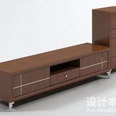 电视柜993d模型下载