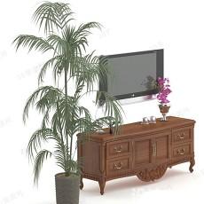 电视柜93d模型下载