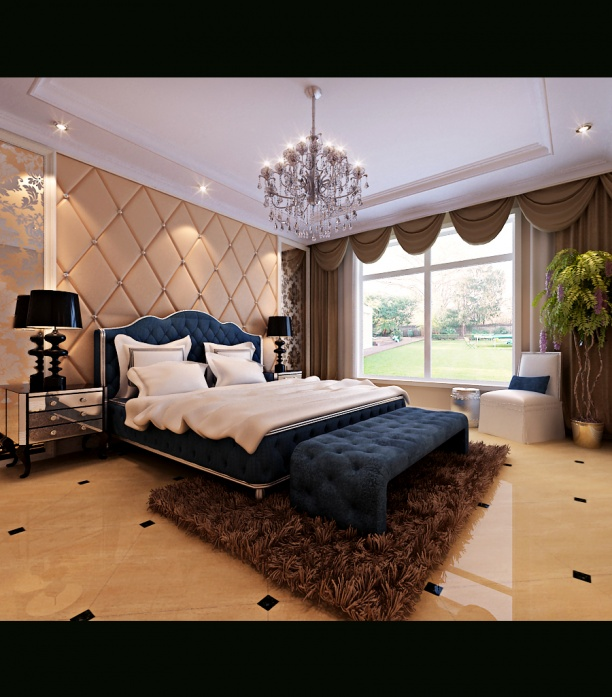 卧室3d吊灯模型下载