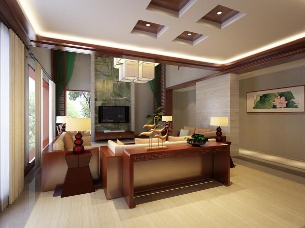欧式客厅3d模型免费下载