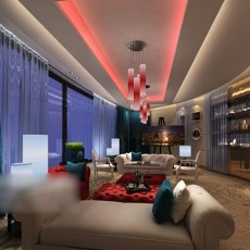 家装客厅吊顶3d模型下载