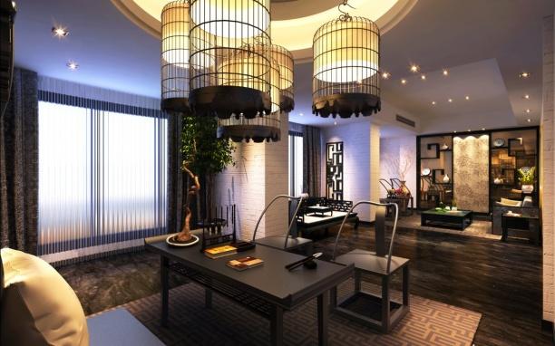 书房吊灯3d模型