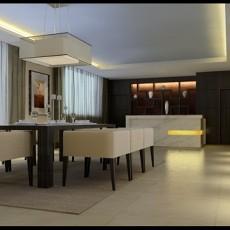 餐厅桌椅3d模型下载