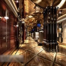 欧式工装走廊3d模型下载