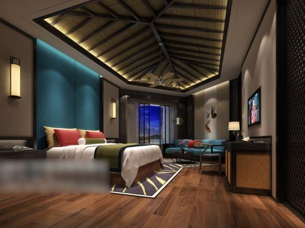 卧室木质吊顶模型