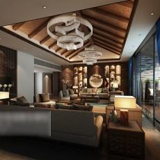 客厅吊顶吊灯3d模型下载
