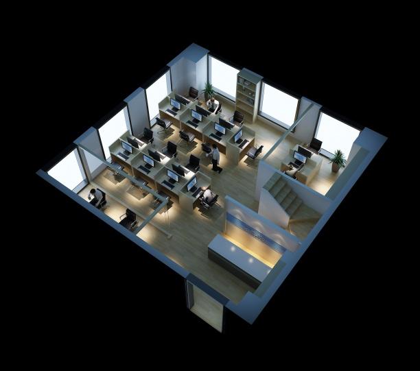 工装办公区整体模型