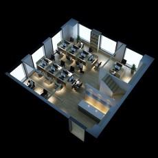 工装办公区整体3d模型下载