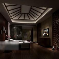 中式酒店客房3d模型下载