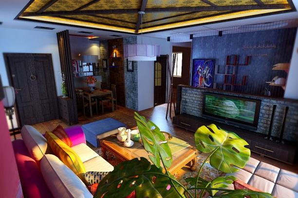 地中海风格客厅3d模型