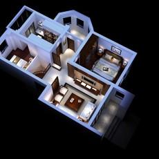 家装整体3d模型下载