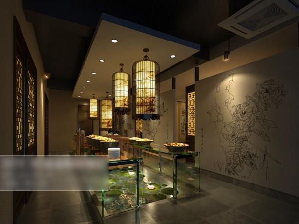 工装餐厅吊灯模型