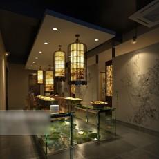 工装餐厅吊灯3d模型下载