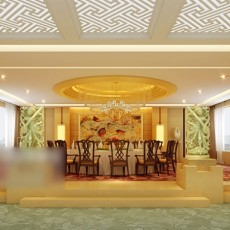 工装餐厅宴会厅3d模型下载