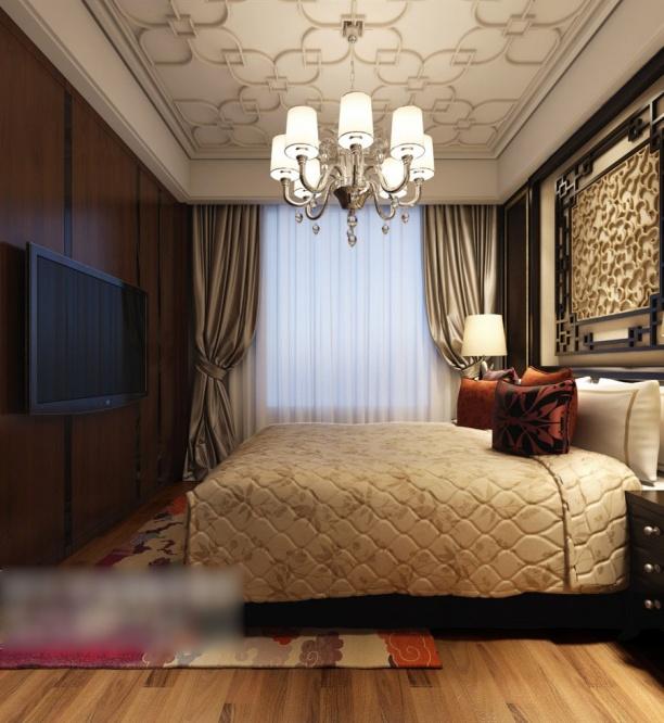 家装卧室吊灯模型
