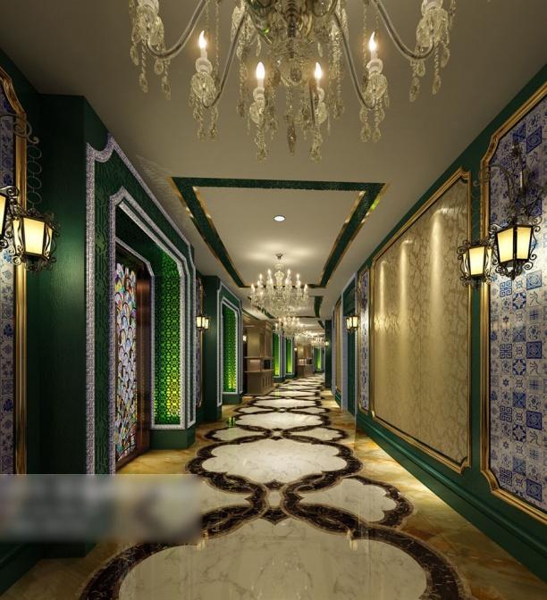 欧式风格走廊3d模型