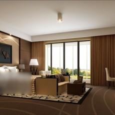 别墅卧室3d模型下载