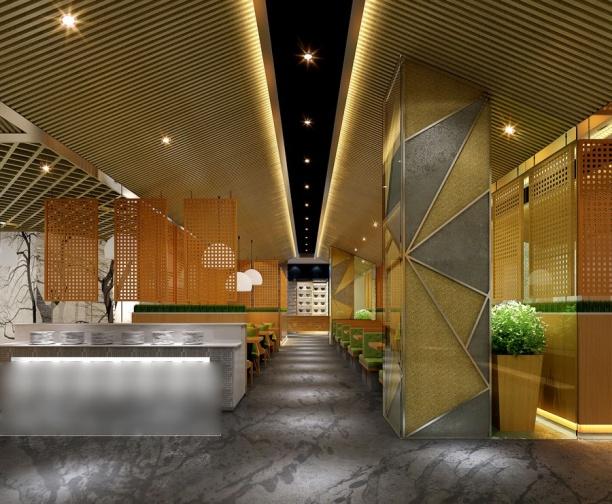 工装餐厅模型