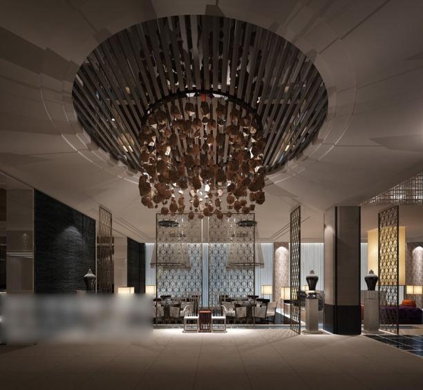 工装餐厅吊顶模型